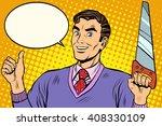 man saw tool | Shutterstock .eps vector #408330109