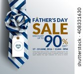 beautiful father's day sale... | Shutterstock .eps vector #408331630