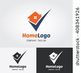 home logo template with check... | Shutterstock .eps vector #408341926