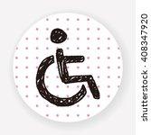 chair wheel doodle | Shutterstock .eps vector #408347920