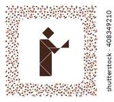 tangram man  chinese dissection ... | Shutterstock .eps vector #408349210