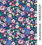 trendy seamless floral pattern... | Shutterstock .eps vector #408353329