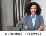 a pretty african american woman ... | Shutterstock . vector #408359638