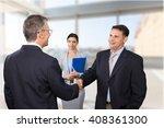 interview. | Shutterstock . vector #408361300