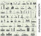 vector line capital city... | Shutterstock .eps vector #408361474