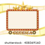 retro cinema sign banner with... | Shutterstock . vector #408369160
