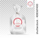 empty transparent plastic gift ... | Shutterstock .eps vector #408369400
