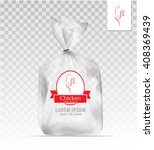 empty transparent plastic gift ... | Shutterstock .eps vector #408369439