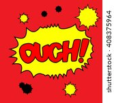 ouch  cartoon word | Shutterstock .eps vector #408375964
