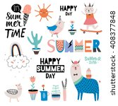 summer design scandinavian set... | Shutterstock .eps vector #408377848