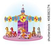 vector illustration carousel... | Shutterstock .eps vector #408382174
