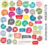 modern badges collection | Shutterstock .eps vector #408387178