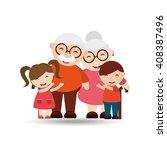 happy grandparents  design    Shutterstock .eps vector #408387496