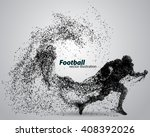 silhouette of a football player ... | Shutterstock .eps vector #408392026
