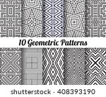 set of 10 abstract patterns.... | Shutterstock .eps vector #408393190