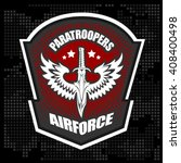 paratroopers   special unit... | Shutterstock .eps vector #408400498