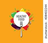 vector logo healthy eating | Shutterstock .eps vector #408402244