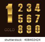 vector golden numbers. set of... | Shutterstock .eps vector #408402424