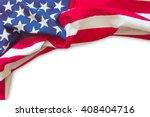 American Flag Border Isolated...