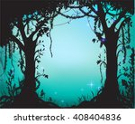 thicket  deep fairy forest... | Shutterstock .eps vector #408404836