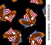 eagle and stars and stripes... | Shutterstock . vector #408406618