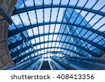 modern escalator in the city | Shutterstock . vector #408413356