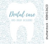 dental care background  banner... | Shutterstock .eps vector #408413623