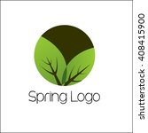 spring logo template  | Shutterstock .eps vector #408415900