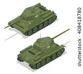 tank t 34 85. military... | Shutterstock .eps vector #408418780