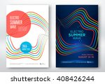 electro summer wave music... | Shutterstock .eps vector #408426244