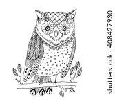 hand drawn black white... | Shutterstock .eps vector #408427930