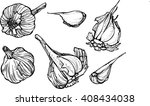 set of garlic | Shutterstock .eps vector #408434038