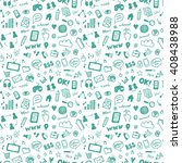 seamless vector pattern with... | Shutterstock .eps vector #408438988