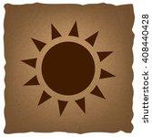 sun sign. vintage effect