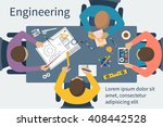 team engineers at table. people ... | Shutterstock .eps vector #408442528