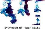 some samples of blue ink in... | Shutterstock . vector #408448168