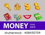 money set of illustration icons | Shutterstock .eps vector #408450709
