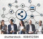share icon social media... | Shutterstock . vector #408452584