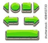 vector cartoon green stone...