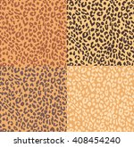 leopard seamless pattern in... | Shutterstock .eps vector #408454240