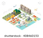 set of isolated isometric... | Shutterstock .eps vector #408460153
