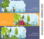 horizontal banners on the theme ... | Shutterstock .eps vector #408461260