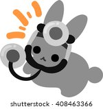 the rabbit which does the... | Shutterstock .eps vector #408463366