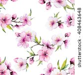 watercolor pattern spring ... | Shutterstock . vector #408463648