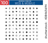 100 universal icon set for web... | Shutterstock .eps vector #408465694