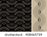2 japanese style fan shape... | Shutterstock .eps vector #408465739
