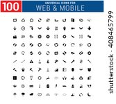 100 universal icon set for web... | Shutterstock .eps vector #408465799
