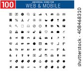 100 universal icon set for web... | Shutterstock .eps vector #408468310