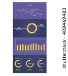 infographic dashboard template... | Shutterstock .eps vector #408469483