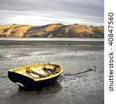 Rowboat At Low Tide   Otago...